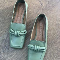 Loafer fivela – Laranja e Verde